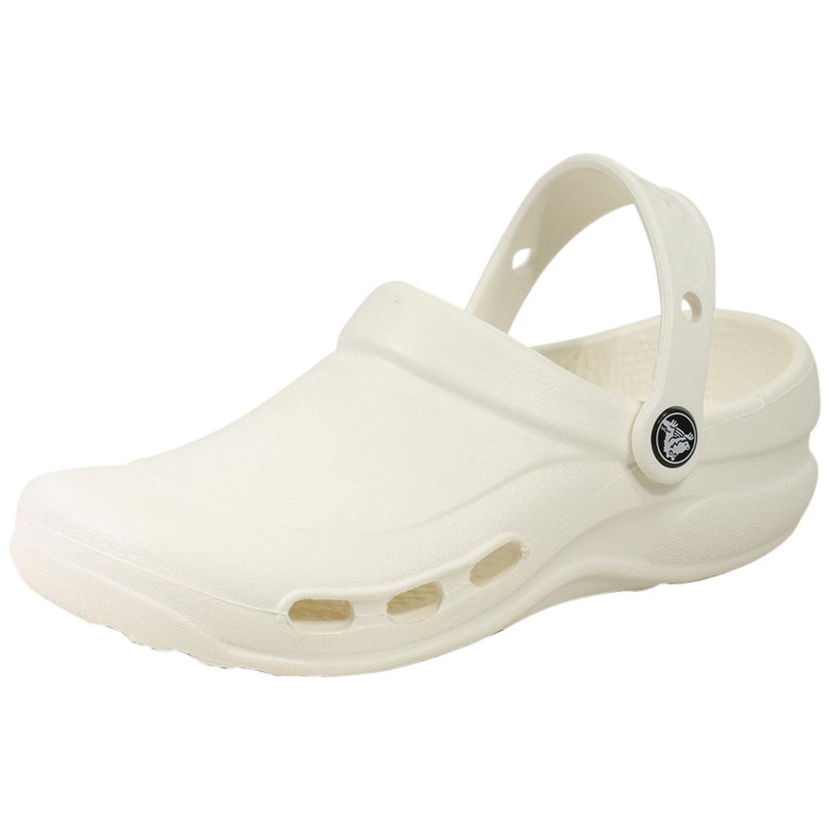 Image of Crocs At Work Specialist Vent Clogs Sandals Shoes - White - 9 D(M) US/11 B(M) US