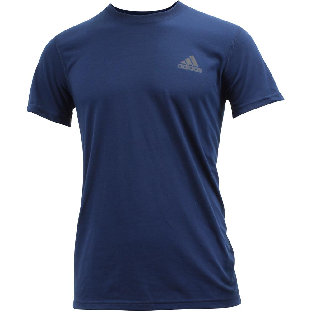 Image of Adidas Men's Ultimate Short Sleeve Tee Climalite T Shirt - Collegiate Navy - XX Large