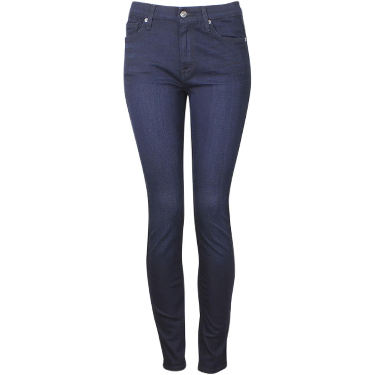 Image of 7 For All Mankind Women's (B)Air Denim The High Waist Skinny Jeans - Blue - 28 (5/6)