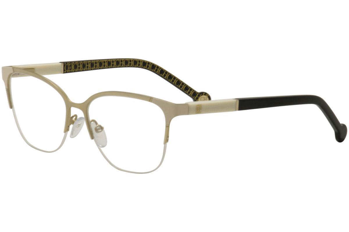 c65e14f444 CH Carolina Herrera Women s Eyeglasses VHE091K VHE 091K Half Rim Optical  Frame by Carolina Herrera. Touch to zoom