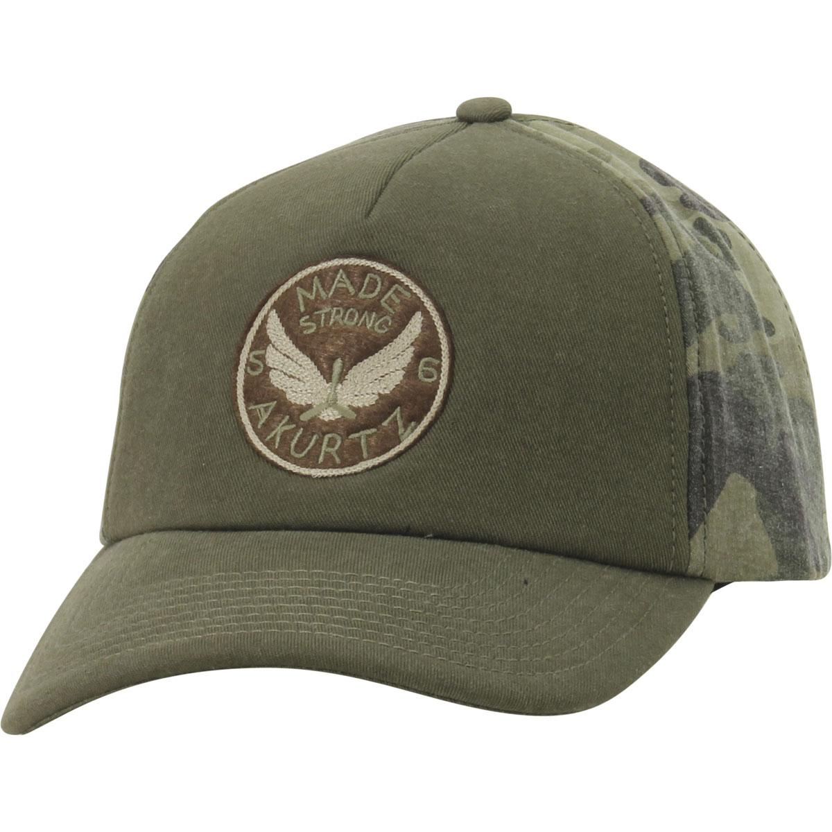 Image of Kurtz Men's Camo Made Strong Baseball Cap Hat - Olive Drab/Camo - One Size Fits Most