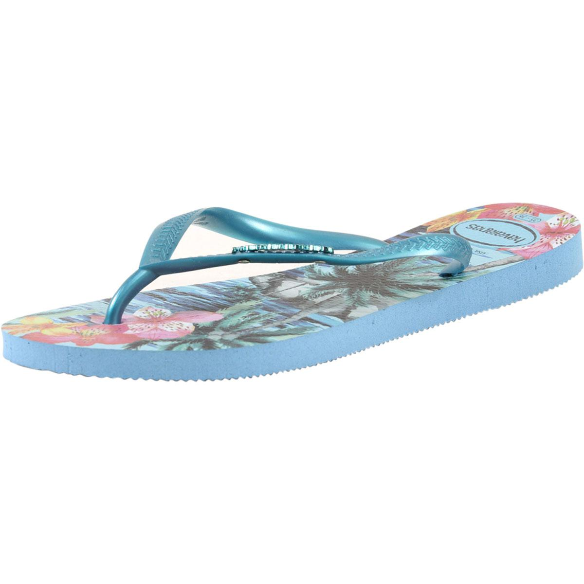 ef343a6e04ed Havaianas Women s Slim Tropical Flip Flops Sandals Shoes by Havaianas.  Touch to zoom
