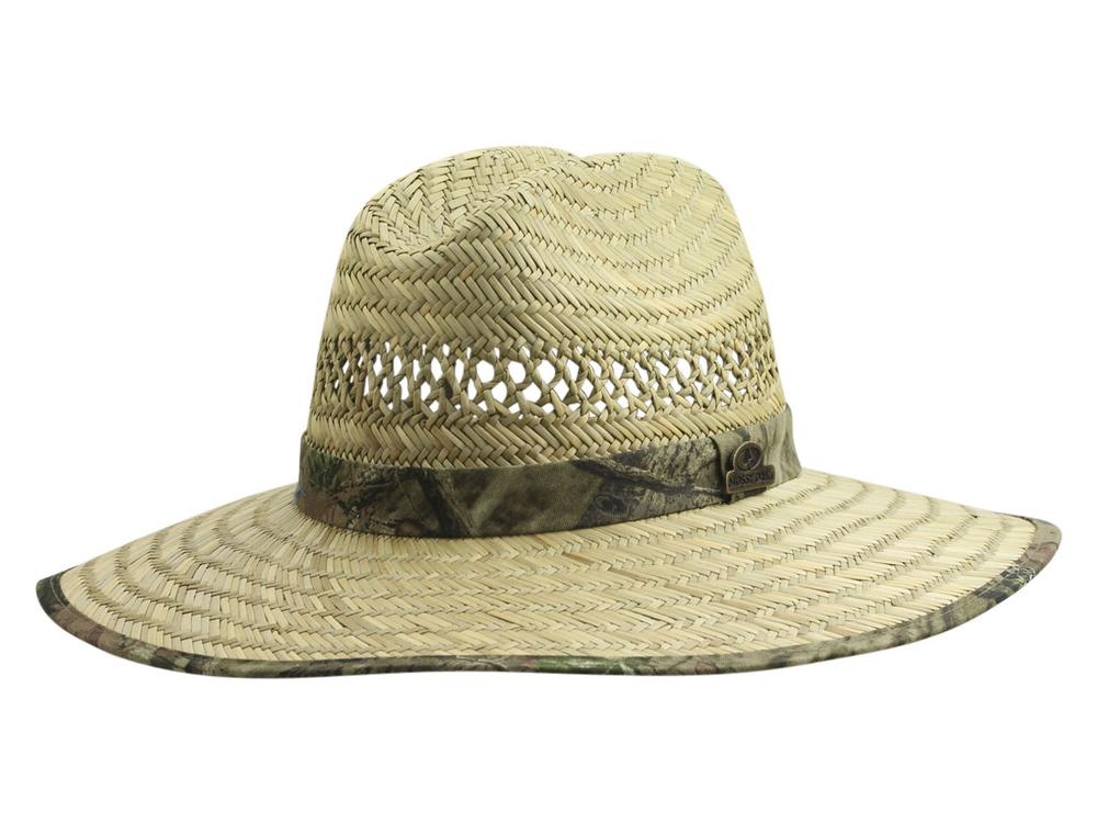 Image of Mossy Oak Men's Big Brim Rush Straw Hat - Beige - Small/Medium