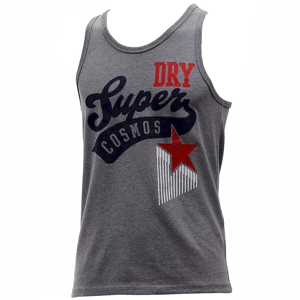 Image of Superdry Men's Athletic Stars Astros Vest Tank Top Shirt - Grey - Small
