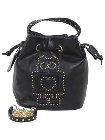Betsey Johnson Women's Kiss And Tell Robot Bucket Crossbody Handbag
