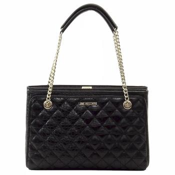 Love Moschino Women's Quilted Crocodile Leather Shoulder Handbag  UPC: