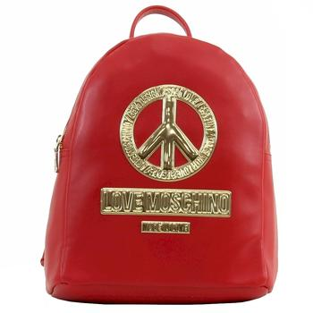 Love Moschino Women's Peace Leather Book Bag Backpack