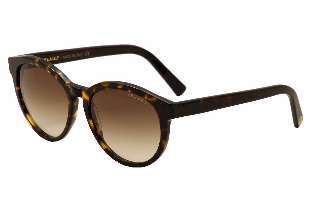 Image of Velvet Eyewear Women's Bella V014TT01 V/014TT01 Fashion Sunglasses - Brown - Lens 52 Bridge 15 Temple 135mm