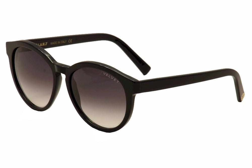 Image of Velvet Eyewear Women's Bella V014TT01 V/014TT01 Fashion Sunglasses - Black - Lens 52 Bridge 15 Temple 135mm