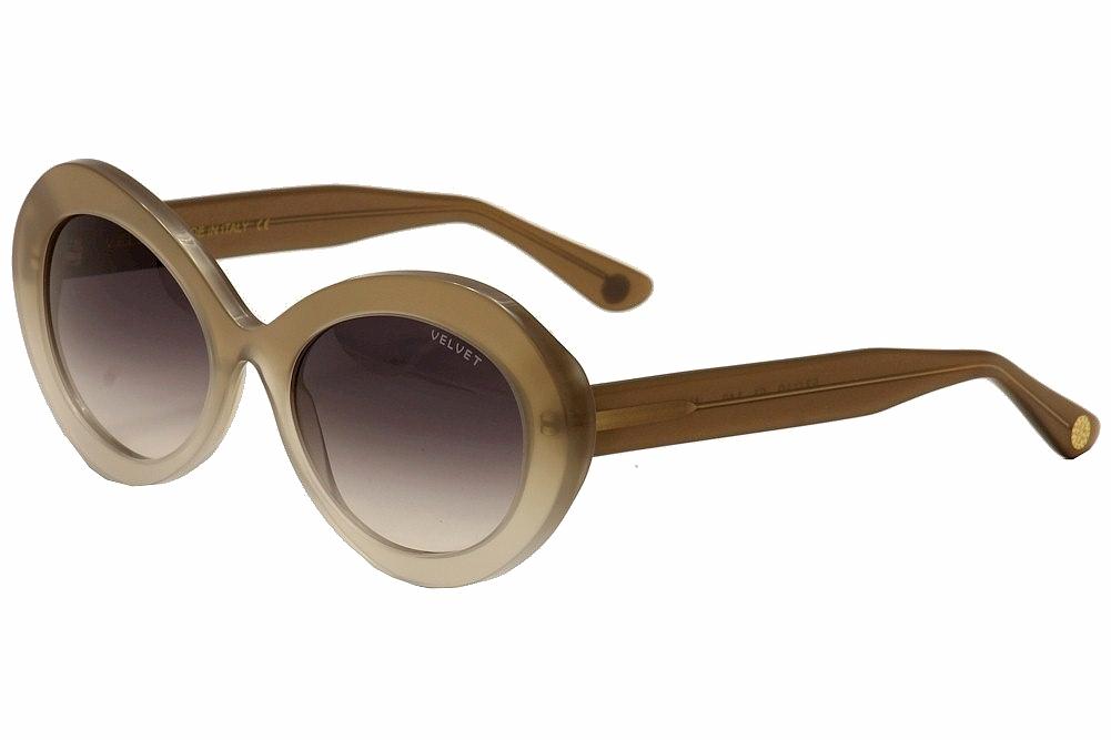 Image of Velvet Eyewear Women's Audrey V019 V/019 TT01 Turquoise Lava Fashion Retro Aviat - Grey - Lens 53 Bridge 19 Temple 140mm