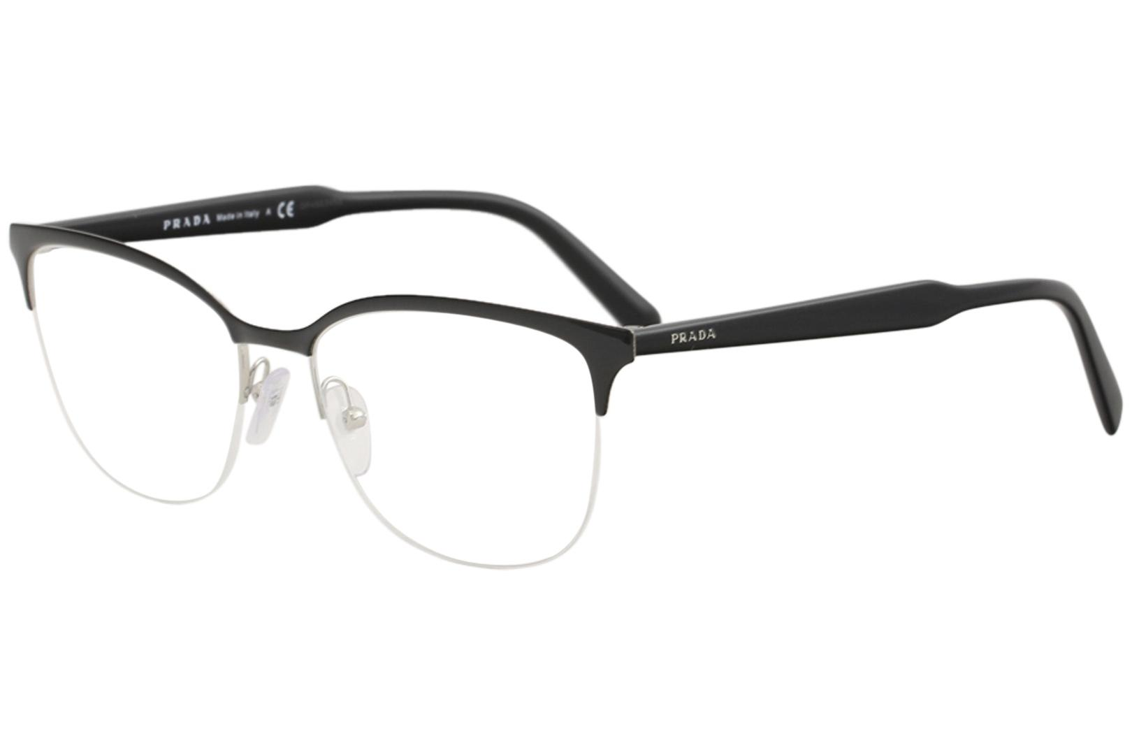 4356d4f1d3d Prada Men S Eyegles Vpr53v Vpr 53 V Half Rim Optical Frame
