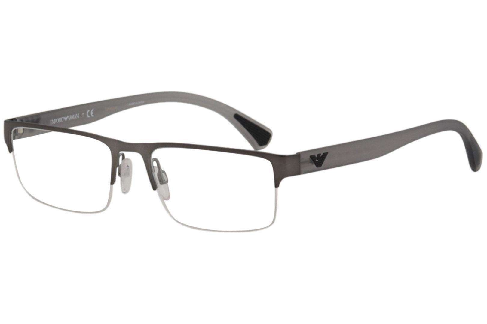 25da3dc2f0f Emporio Armani Men s Eyeglasses EA1050 EA 1050 Half Rim Optical Frame