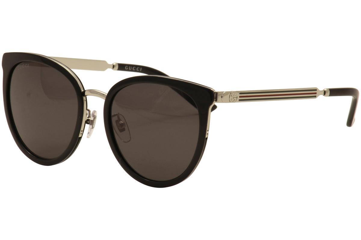 e5826bf346c Gucci Women s GG0077SK GG 0077 SK Round Sunglasses