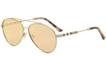 6906217f325 Burberry Women s BE3092Q BE 3092 Q Pilot Sunglasses
