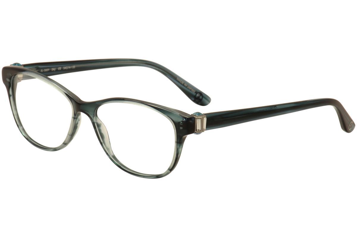 Image of JL By Judith Leiber Women's Eyeglasses JL3001 JL/3001 Full Rim Optical Frame - Blue - Lens 54 Bridge 14 Temple 135mm