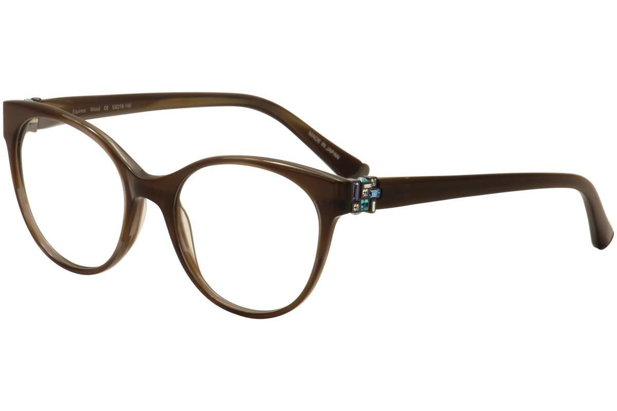 Image of Judith Leiber Couture Womens Equinox Eyeglasses Full Rim Optical Frame - Brown - Lens 53 Bridge 18 Temple 140mm