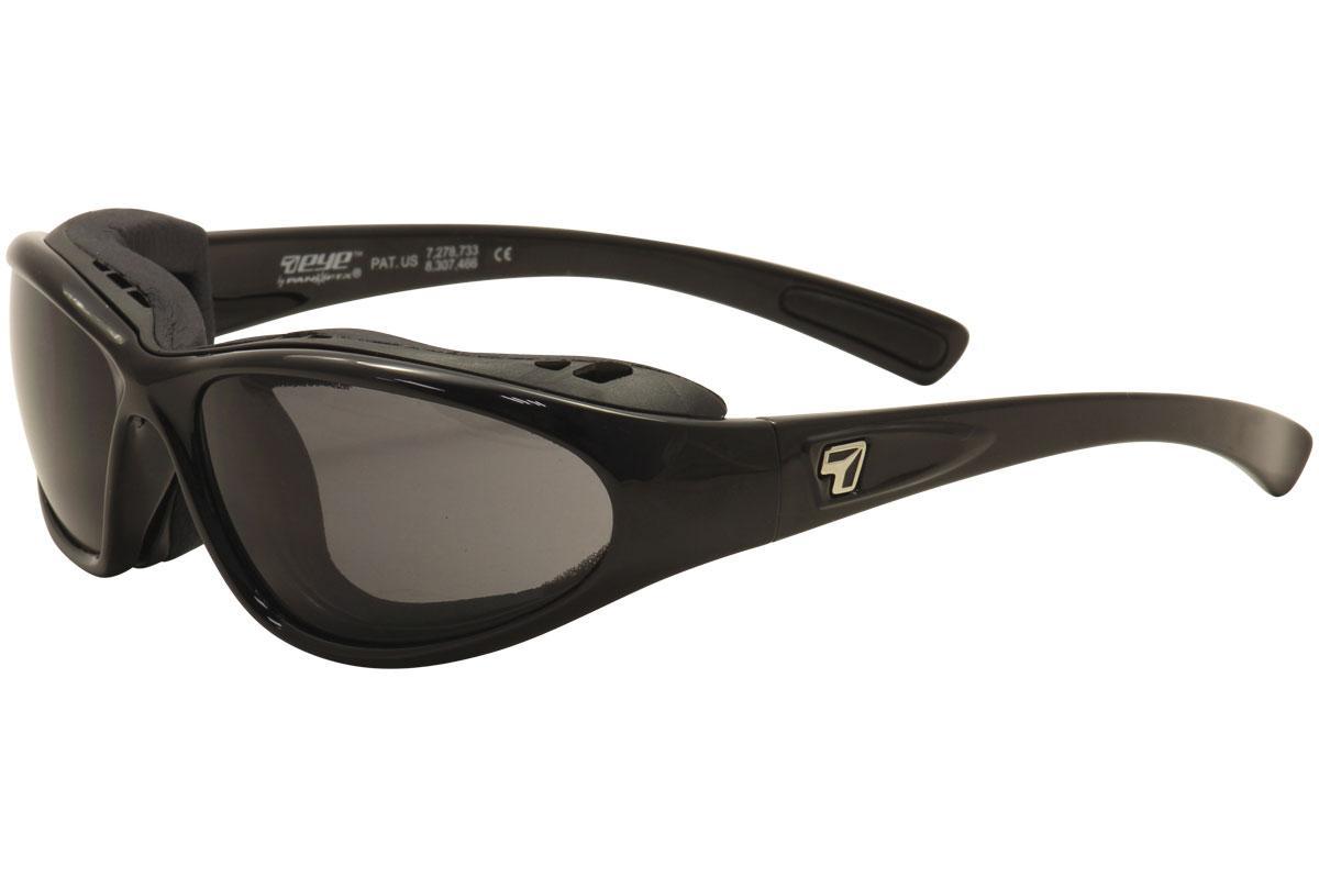 Image of 7Eye Men's AirShield Bora Wrap Sport Sunglasses - Glossy Black/SharpView Gray   F 140541 - Large   Extra Large