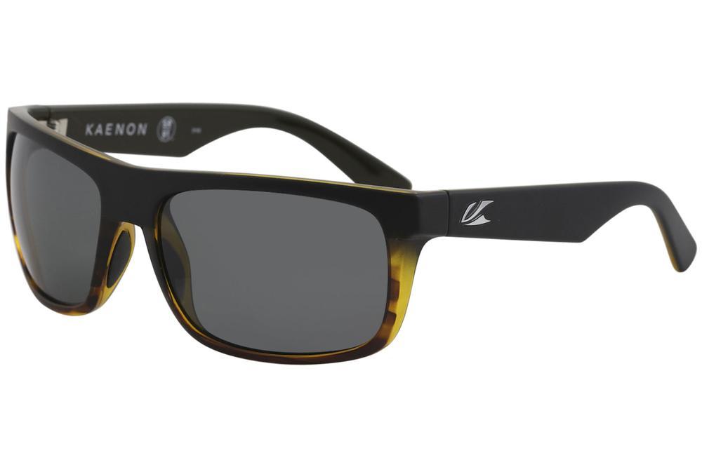 Image of Kaenon Burnet 017 Polarized Fashion Sunglasses - Matte Black Tortoise/Polarized Grey   G12 - Lens 60 Bridge 18 B 39 Temple 130mm