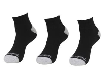 860d2af4a Timberland Men's 3-Pairs Cushioned Quarter Crew Socks by Timberland