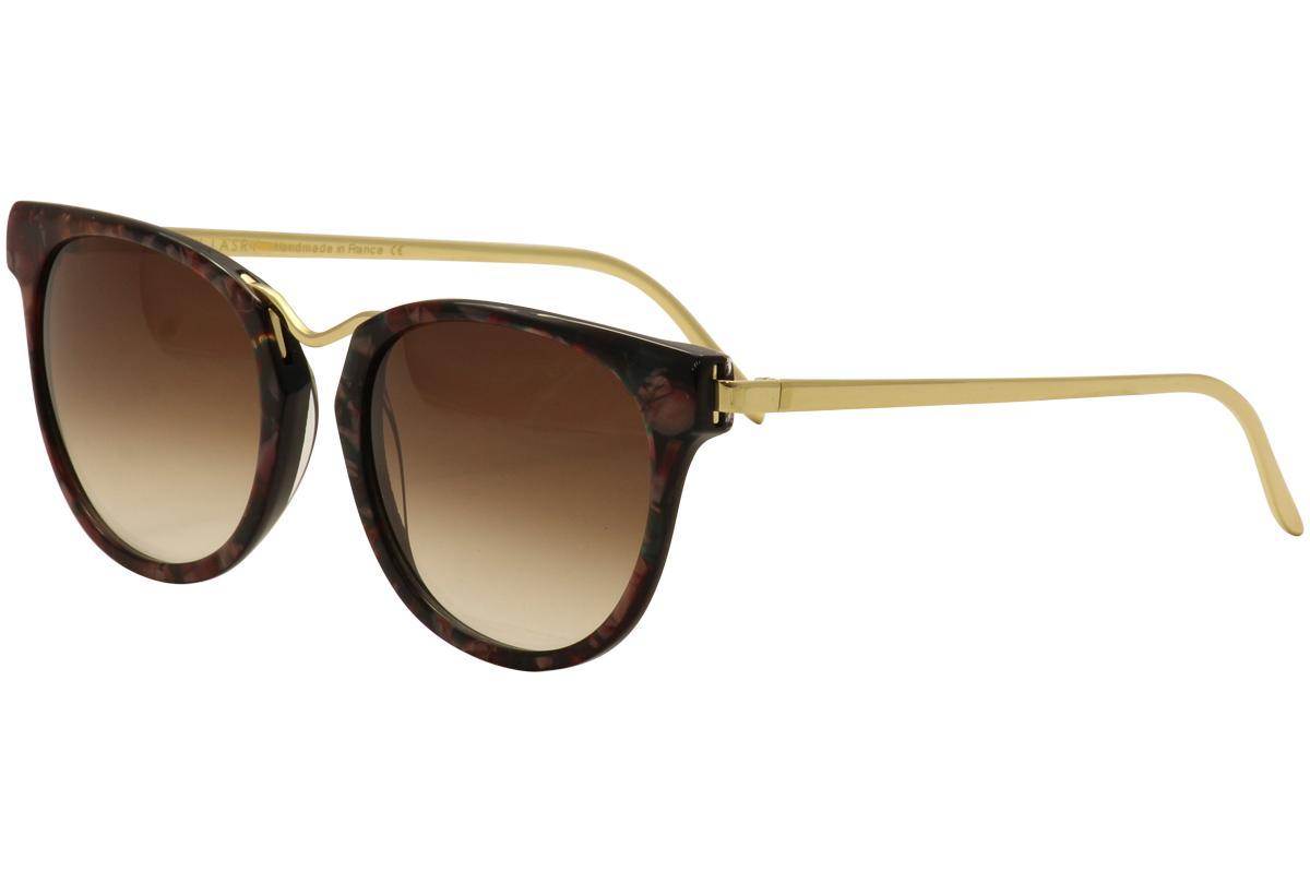Image of Thierry Lasry Women's Gummy Tortoise Fashion Sunglasses - Burgundy Multi Gold/Brown Gradient   V703 - Lens 56 Bridge 19 Temple 140mm