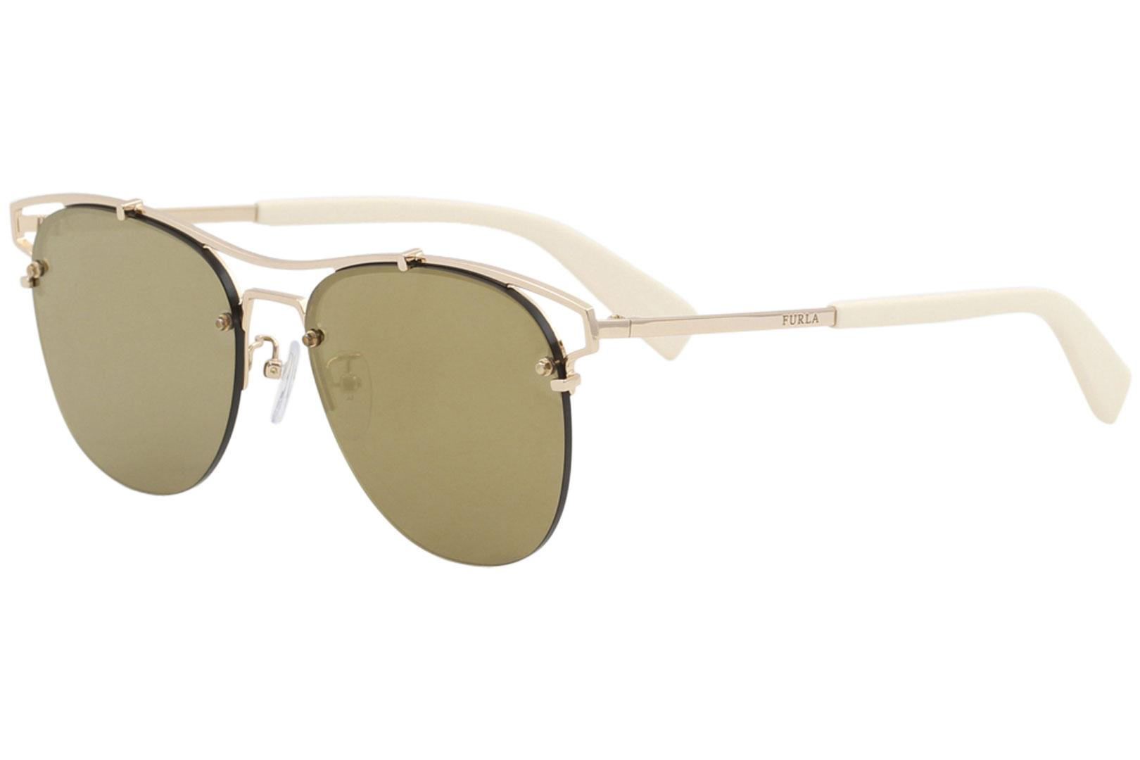 636de0a1bcca6 Furla Women s SFU106 SFU 106 Fashion Pilot Sunglasses by Furla. Touch to  zoom