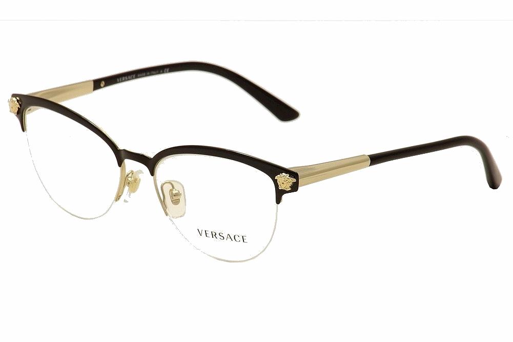 Versace Women\'s Eyeglasses VE1235 VE/1235 Half Rim Optical Frame