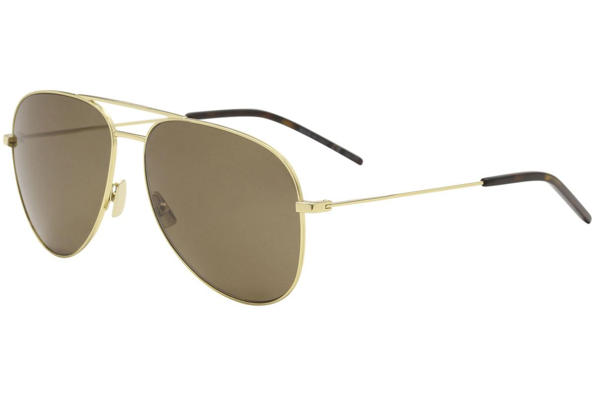 Image of Saint Laurent Classic 11 Pilot Sunglasses - Gold - Lens 59 Bridge 14 Temple 145mm