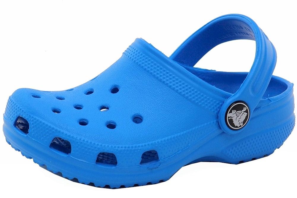 Image of Crocs Kid's Classic Watershoe Clogs Sandals Shoes - Blue - 12 M US Little Kid/13 M US Little Kid