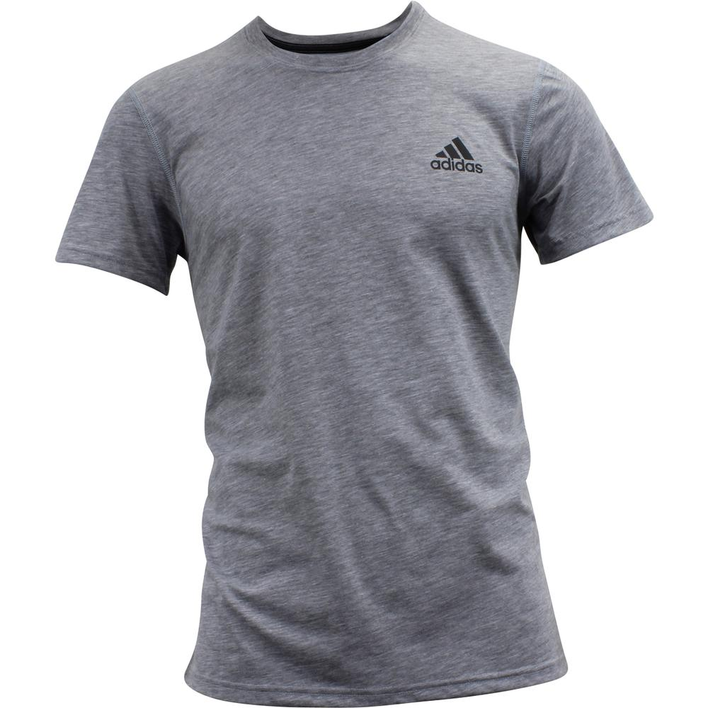 Image of Adidas Men's Ultimate Short Sleeve Tee Climalite T Shirt - Medium Grey Heather - Medium