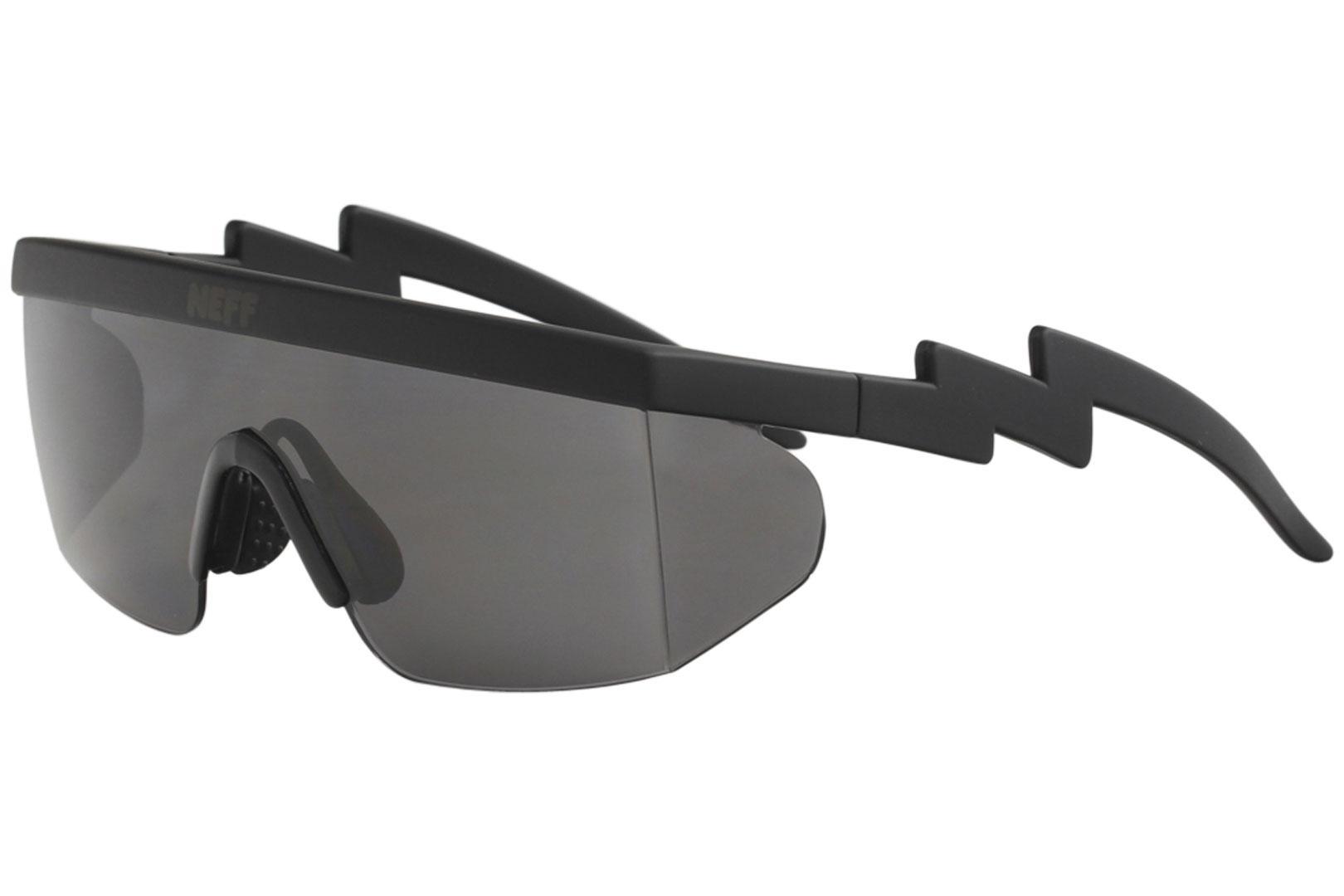 Image of Neff Brodie NF0304 NF/0304 Sunglasses W/ Bonus Lens - Black Rubber/Grey - Medium Fit