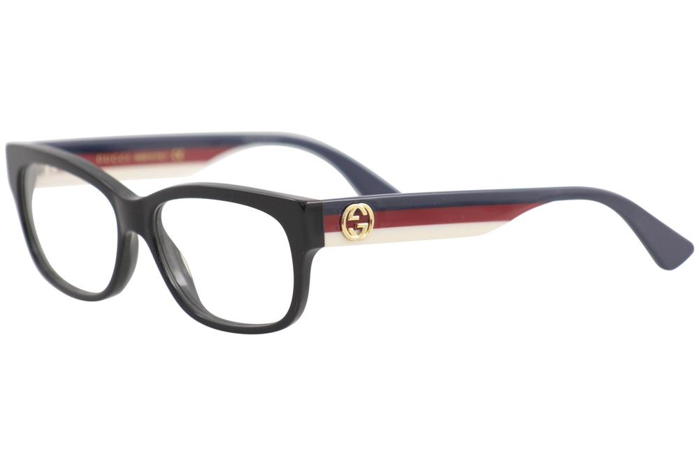8079a0afe18 Gucci Women s Eyeglasses GG0278O GG 0278 O 001 Black Full Rim ...