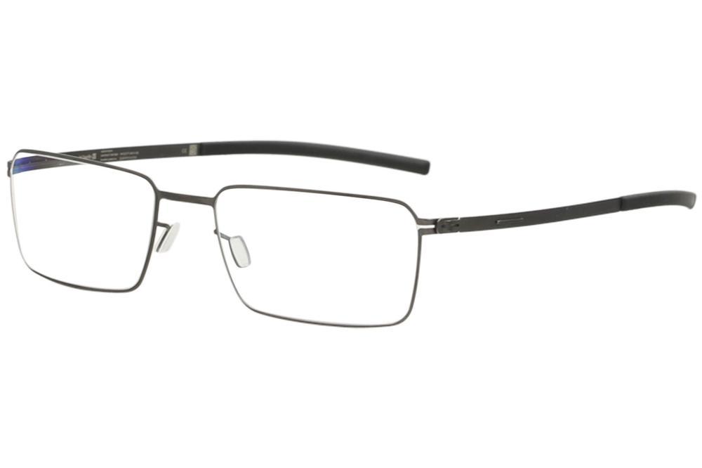 Image of Ic! Berlin Men's Eyeglasses Arcus Full Rim Flex Optical Frame - Graphite/Black  - Lens 49 Bridge 18 Temple 145mm