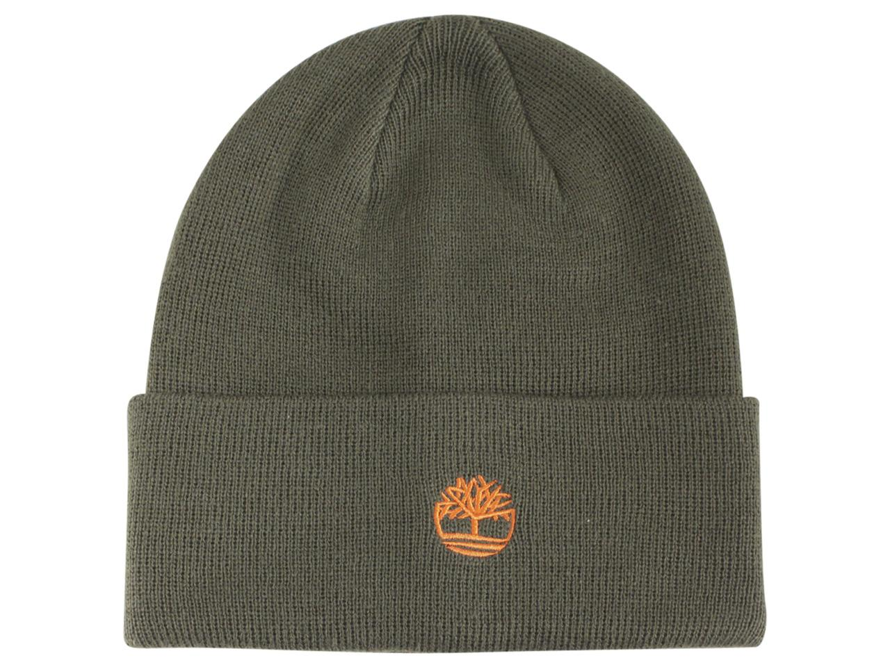 f352719a Timberland Men's Contrast Logo Knit Beanie Hat