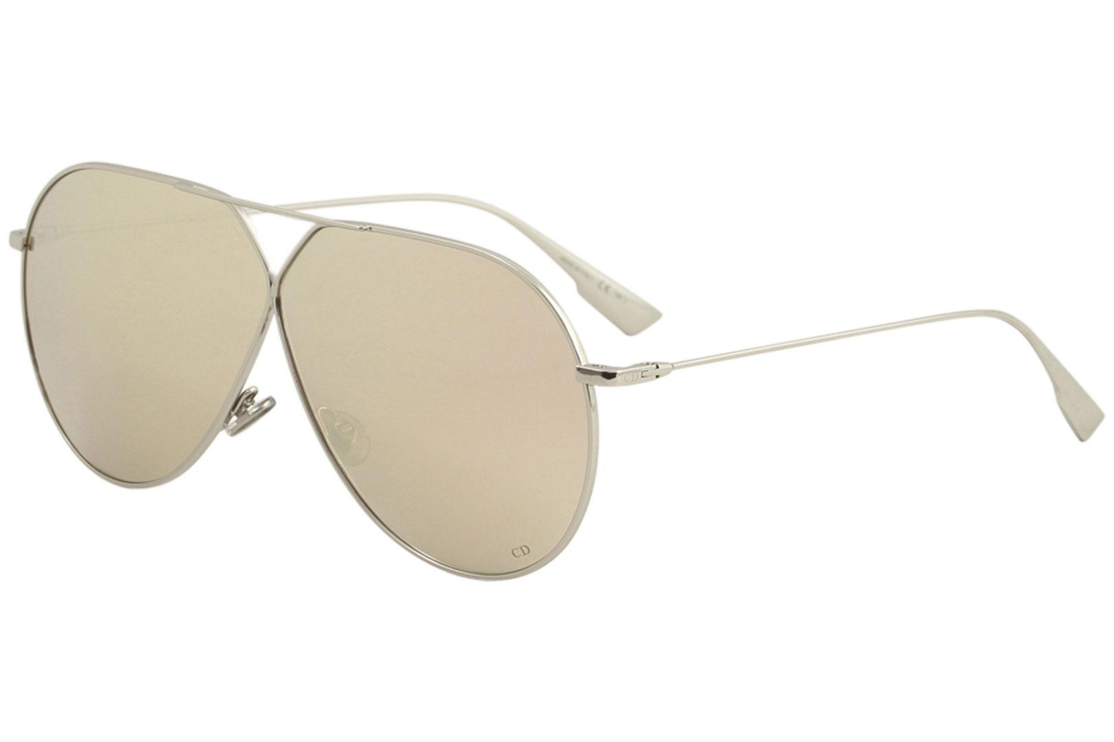 Image of Christian Dior Women's DiorStellaire3 Fashion Pilot Sunglasses - Palladium/Pink Gold Mirror   010/SQ - Lens 65 Bridge 01 B 55.8 ED 71.9 Temple 145mm