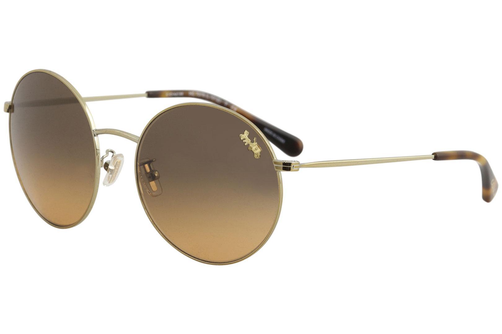 b85e66d60bf4 ... australia coach womens l1012 hc7078 hc 7078 fashion round sunglasses by  coach 1ace8 8401d