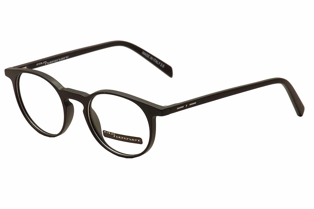 Image of Italia Independent Men's Eyeglasses I Plastik 5622 Full Rim Optical Frame - Black - Lens 47 Bridge 20 Temple 145mm