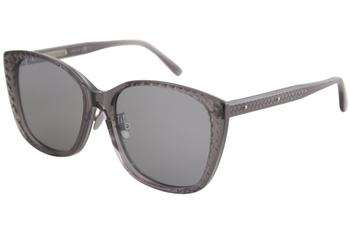 d9e52819fee Bottega Veneta Women s BV0197SA BV 0197 SA Round Fashion Sunglasses 53mm