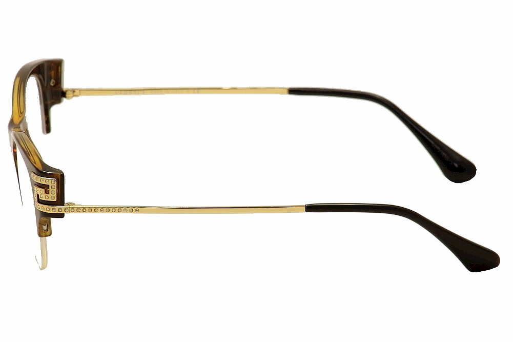 8ac652b7dbd2 Versace Women's Eyeglasses VE 3226B 3226/B Half Rim Optical Frame by Versace.  1234567