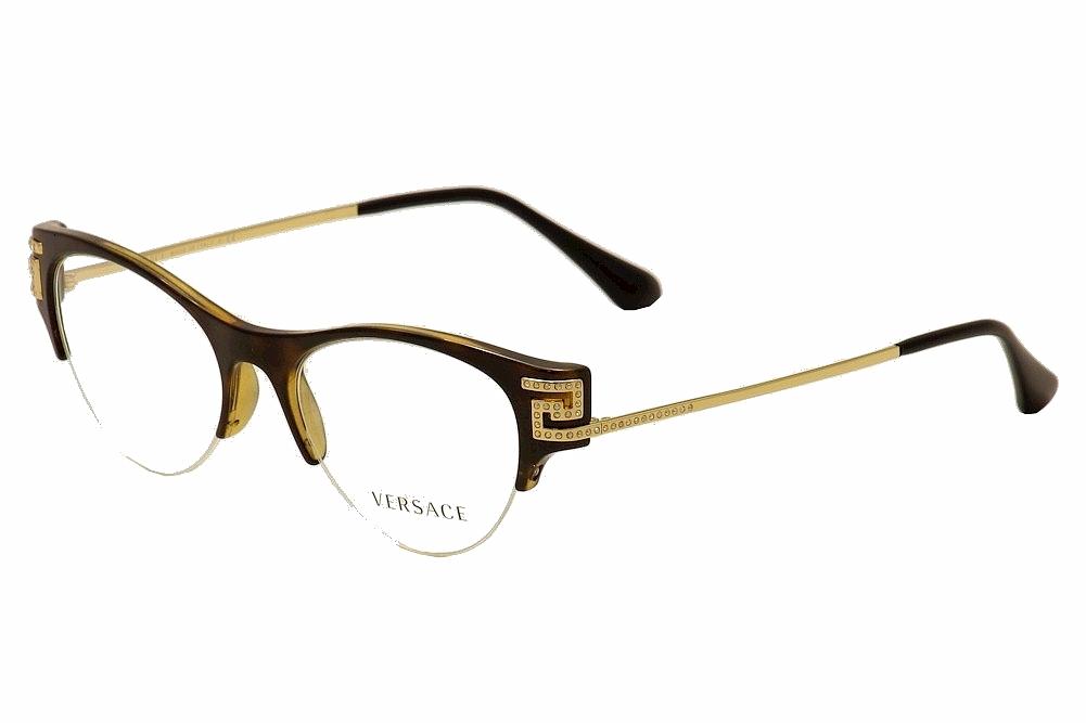 41ca85ba0c90 Versace Women's Eyeglasses VE 3226B 3226/B Half Rim Optical Frame