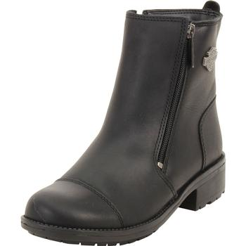 Harley Davidson Women's Senter Dual Zip Ankle Boots Shoes UPC: