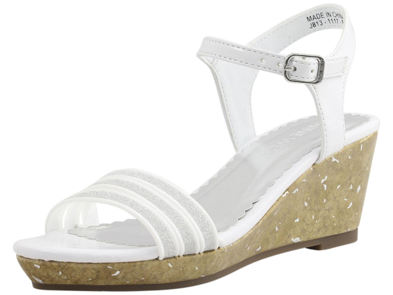 4380c6b3aa8 Nine West Little/Big Girl's Emily-2 Wedge Heel Sandals Shoes