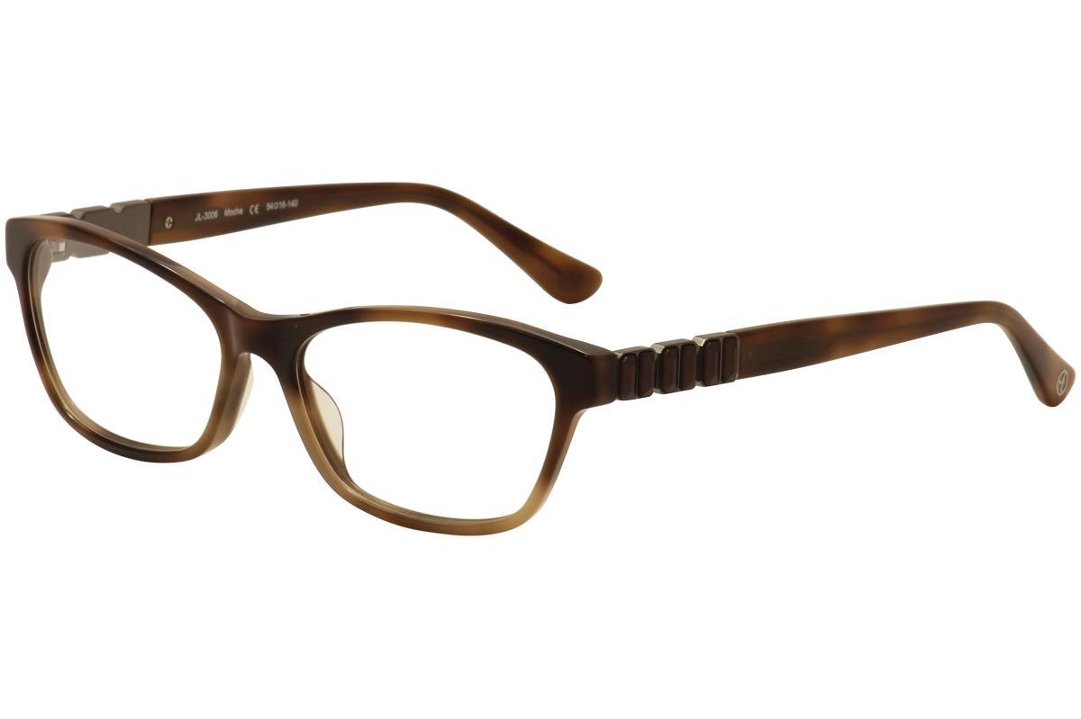 Image of JL By Judith Leiber Women's Eyeglasses JL3006 JL/3006 Full Rim Optical Frame - Brown - Lens 54 Bridge 16 Temple 140mm