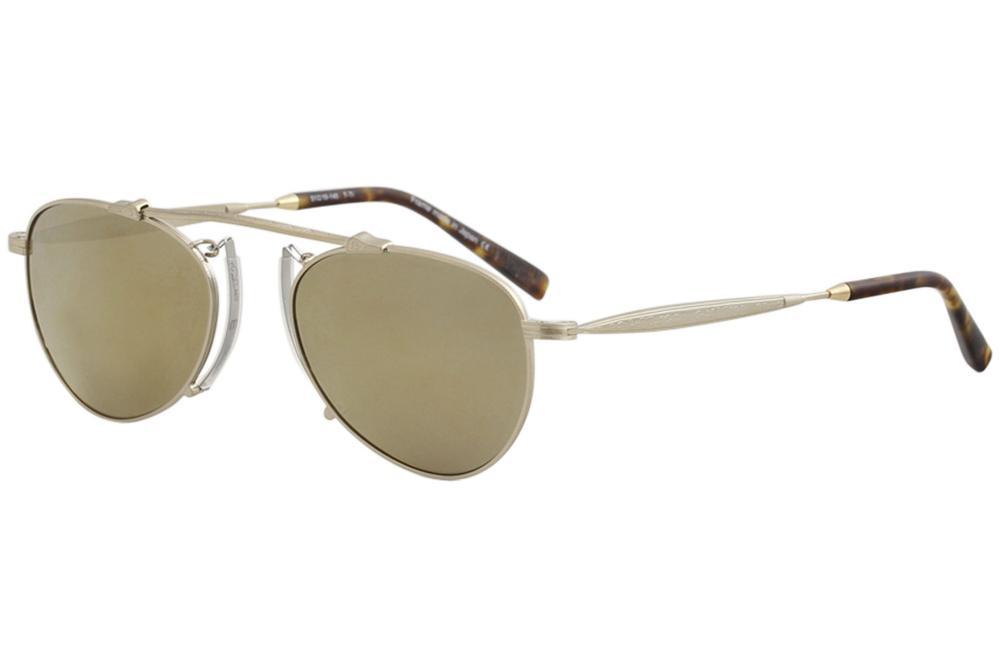 2ea56e5dd8d Matsuda Men s M3036 M 3036 BG Brushed Gold Fashion Pilot Sunglasses ...