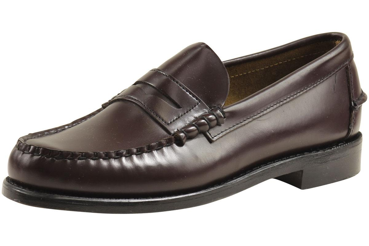 Image of Sebago Men's Classic Leather Penny Loafers Shoes - Cordo Leather - 8 D(M) US