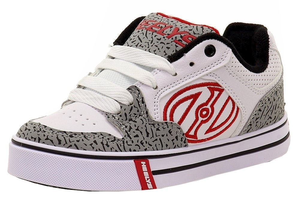 Image of Heelys Boy's Motion Plus Skate Sneakers Shoes - White - 1 M US Little Kid