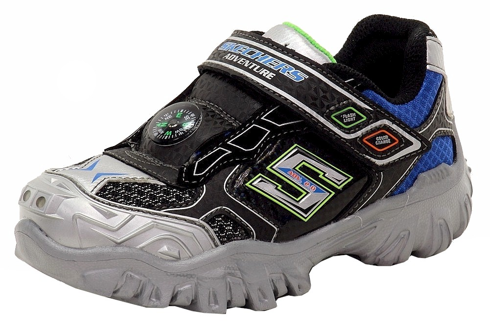 3149d22774f5 Skechers Boy s Hot Lights Damager III Adventurer Extreme Light Up Sneaker  Shoes
