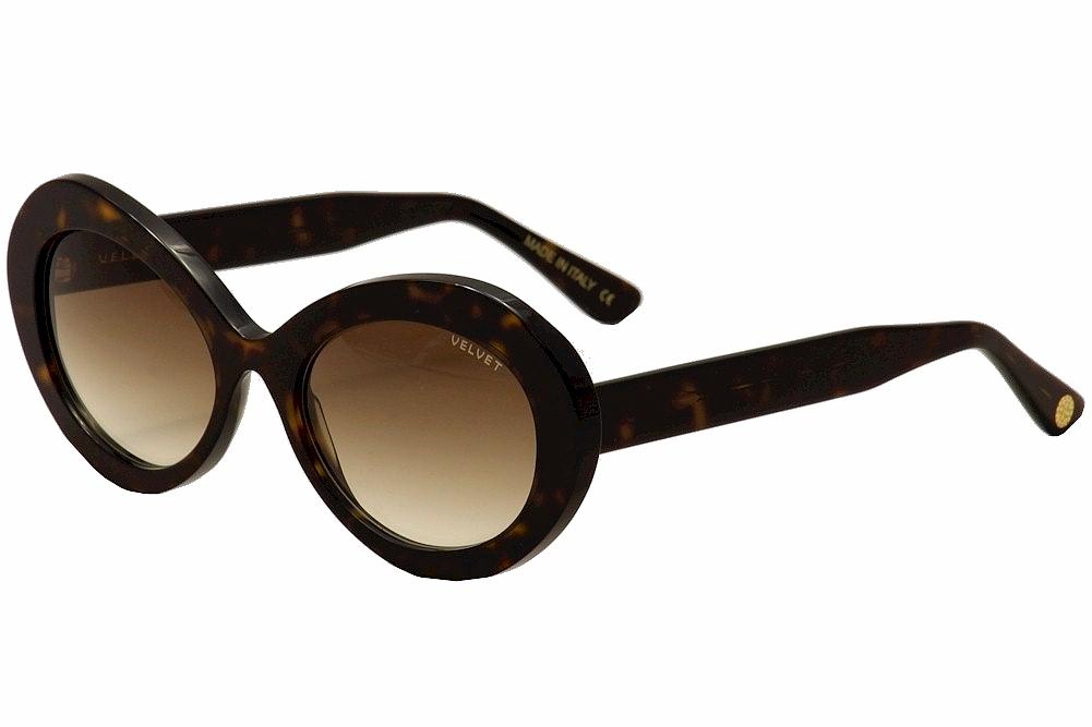 Image of Velvet Eyewear Women's Audrey V019 V/019 TT01 Turquoise Lava Fashion Retro Aviat - Brown - Lens 43 Bridge 19 Temple 135mm