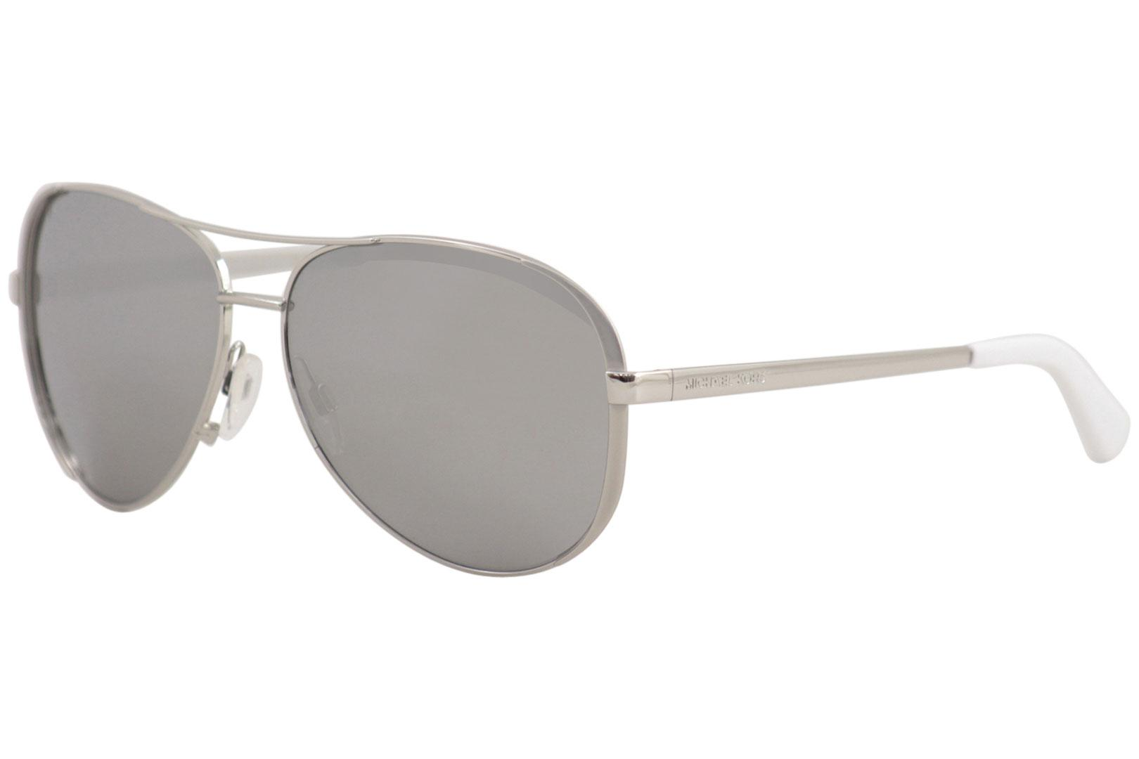 c33b18c2a45 Michael Kors Chelsea MK5004 5004 1001Z3 Silver Pilot Polarized ...