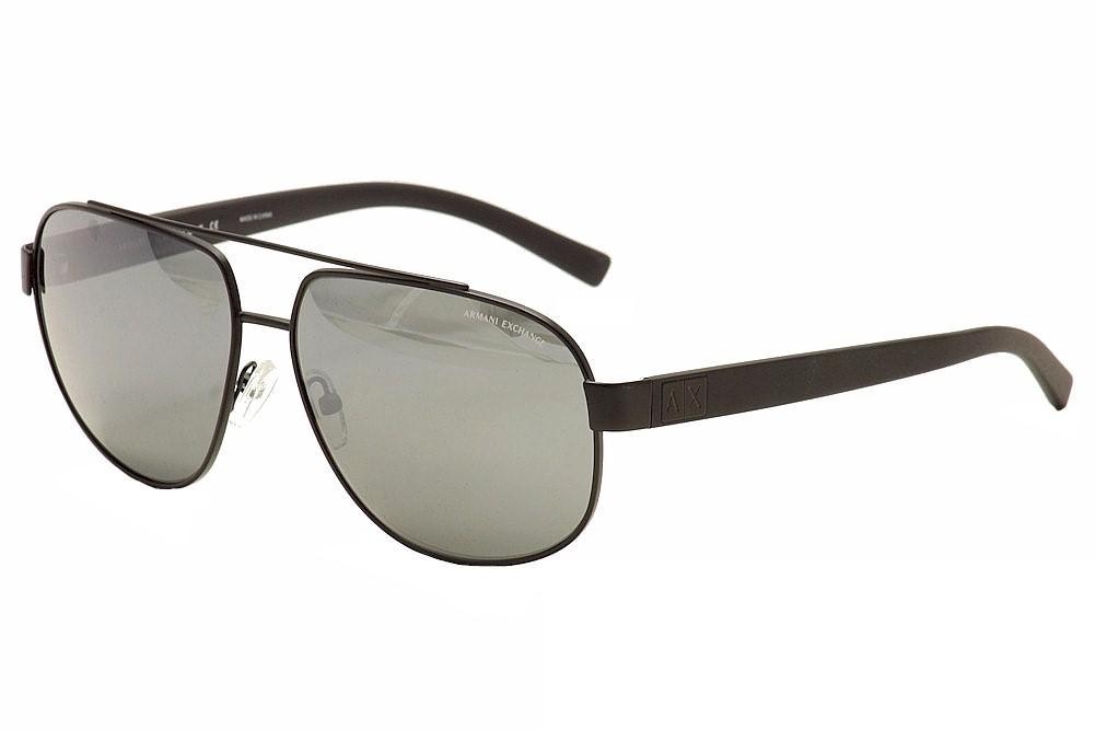 Image of Armani Exchange Men's AX 2019/S 2019S Pilot Sunglasses - Black - Lens 60 Bridge 13 Temple 140mm