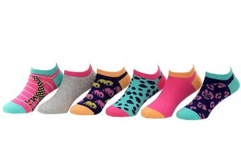 Stride Rite Toddler/Little Girl's 6-Pairs Animals Comfort Seam No Show Socks